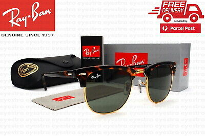 AU109.99 • Buy Authentic Ray Ban Clubmaster Tortoise Sunglasses RB3016 51mm