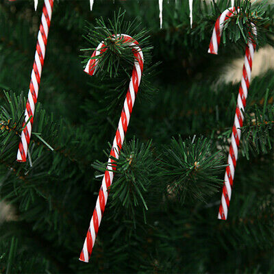 10x Large Plastic Candy Cane Christmas Tree Hanging Decor Xmas Prop Ornament UK • 2.85£