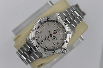 Tag Heuer 2000 WK1112.BA0311 Classic Professional Watch Mens SILVER Mint Crystal • 355$