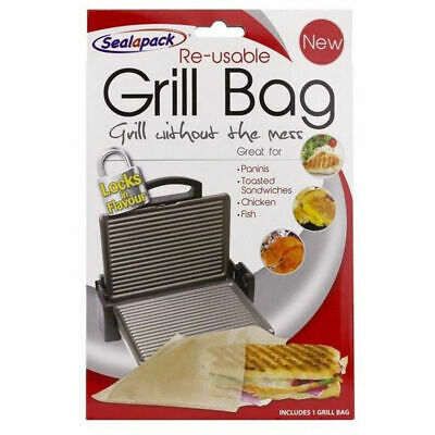 SealaPack Reusable Grill Bag Paninis Toasted Sandwiches Chicken,Fish No Mess. • 1.99£