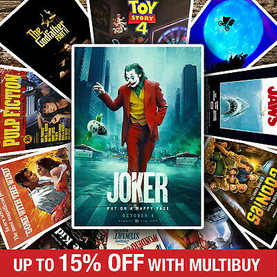 CLASSIC VINTAGE MOVIE POSTERS - A4 A3 A2 - Quality Prints - Marvel, Jaws, Joker • 9.99£