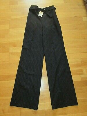 Next Navy Blue Slouch Trousers Size 8 Xxl Tall Eur 36 Leg 36 Brand New Tags • 11.99£
