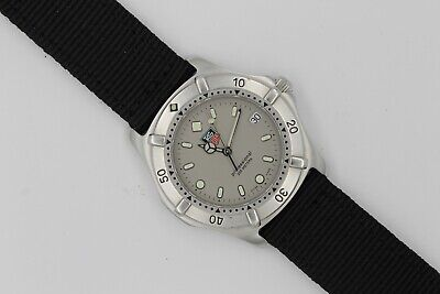 Tag Heuer WE1111.BA0300 Professional 2000 SS Watch Mens Gray Silver Mint 962.206 • 350$