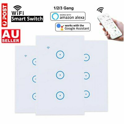 AU25.96 • Buy Smart WIFI Wall Light Touch Panel Switch App Timing Socket Alexa Google Home AU