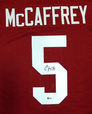 $ CDN175.54 • Buy Stanford Christian Mccaffrey Autographed Signed Red Jersey Beckett 120031