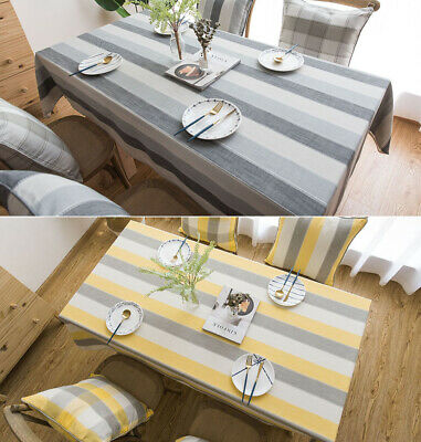 AU50.99 • Buy Big Stripes Tablecloth 100% Polyester Dust Proof Dining Table Cover Backdrop