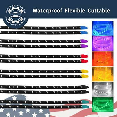 $7.59 • Buy 12x Waterproof 12''/15 DC 12V Motor LED Strip Underbody Light For Car Motorcycle