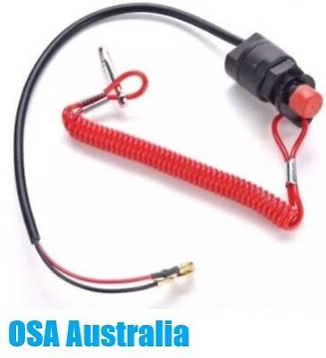 AU37.50 • Buy New Outboard Universal Kill Stop Safety Switch With Lanyard Tether 6E9-82575-09