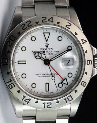 $ CDN13092.21 • Buy ROLEX - 40mm Mens Stainless Steel Explorer II White Dial 16570 - SANT BLANC