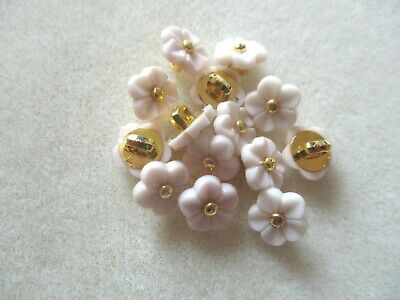 $6.23 • Buy 10 Pcs 11mm Cream Flower Resin Shank Buttons - Baby Wedding Craft Sewing