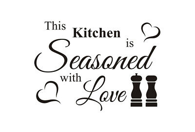 This Kitchen Is Seasoned With Love Chess Wall Quotes Art Wall Stickers UK 50y  • 4.30£