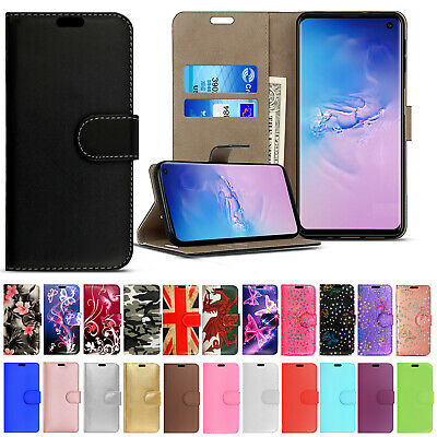 Case For Samsung Galaxy S10 S9 S8 Plus Leather Flip Wallet Magnetic Phone Cover • 3.90£