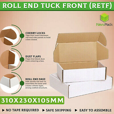 AU78.95 • Buy 100x A4 Mailing Box 310x230x105mm White Cardboard Diecut Large Shipping BX2 Size
