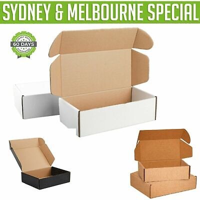AU76.95 • Buy Mailing Box Diecut Shipping Cardboard Carton 310x230x105mm A4 BX2 Size 100, 200