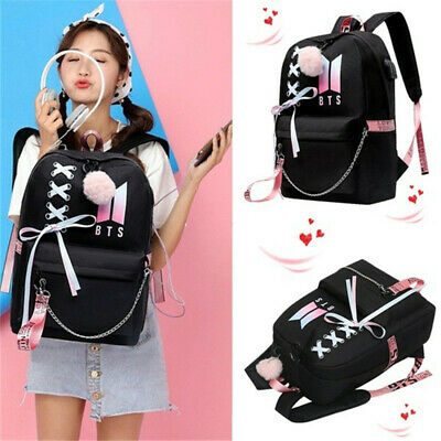 $22.74 • Buy BTS Bangtan Boys Backpack Women Student Bookbag Preppy School Shoulder Bag
