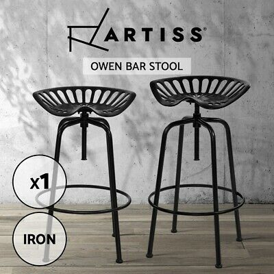 AU129.90 • Buy Artiss 1X Kitchen Bar Stools Tractor Bar Stool Chairs Vintage Swivel Metal Black