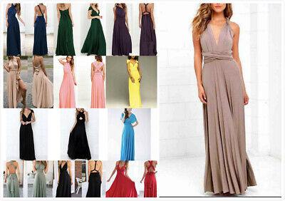 AU24.99 • Buy AU SELLER Convertible Worn In Multiple Style Cocktail Party Maxi Dress Dr023