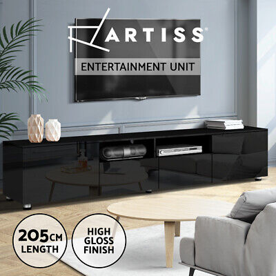 AU199.95 • Buy Artiss TV Cabinet Entertainment Unit Stand High Gloss Furniture 205cm Black