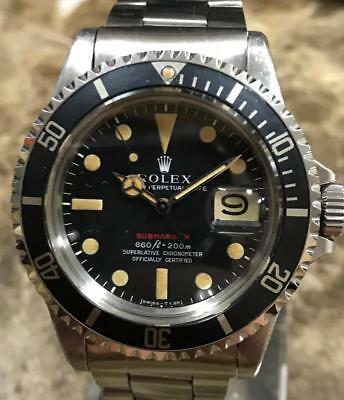 $ CDN74673.47 • Buy VINTAGE ROLEX RED SUBMARINER 1680 2,5M SERIAL Ca. 1970, UNPOLISHED PUNCHED SET