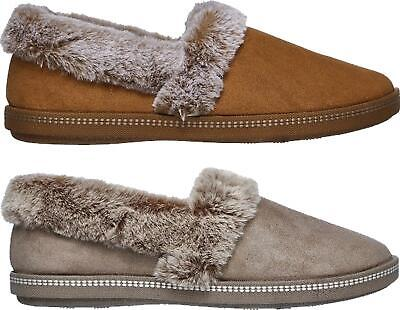Skechers COZY CAMPFIRE-TEAM TOASTY Ladies Womens Faux Fur Slip On Full Slippers • 32£