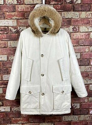 £224.72 • Buy Mens White Woolrich Arctic Parka Down Filled Hooded Coat Size XS / Small  : J768