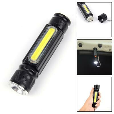 LED Flashlight Torch Waterproof Light Micro USB Port Zoomable For Camping EV • 8.13£