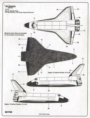 NEW 1:144 Warbird Decals 14404 Space Shuttle Tile Set  • 25.99£