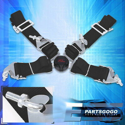 $ CDN35.46 • Buy 4 Point 2  Camlock Quick Release Racing Seat Belt Harness Nylon Black For Toyota