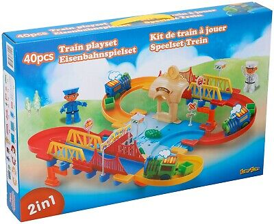 2 Tracks In 1 Kids Electronic Train Set & Railway Play Set Game 40 Pcs Toy • 7.49£