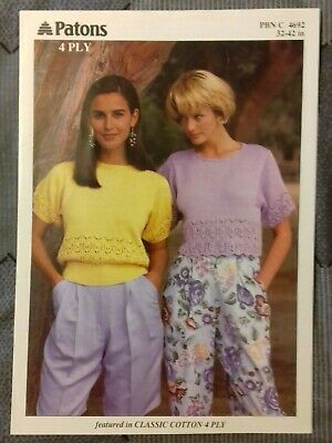 Knitting Pattern - Patons Lady's Cropped Top & Sweater, 4 Ply, 4692 (192308) • 1.15£