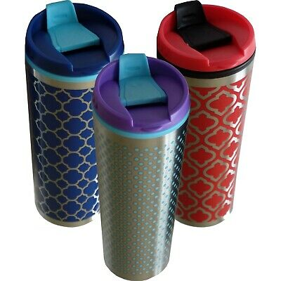 AU19.95 • Buy Travel Mug Insulated Coffee Mugs Cup Thermos Stainless Steel Silver 500ml New