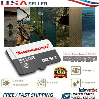 $14.99 • Buy Micro TF Flash Memory Card SD- Card 4-512GB Class 10 For Camera Mobile Lot
