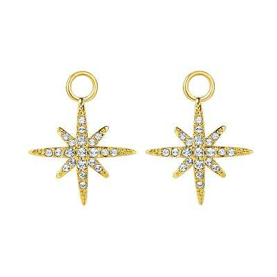£14.99 • Buy Polaris Star Mix Hoop Earring Charms Made With Swarovski Crystals