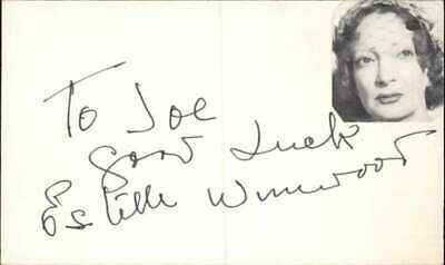 $ CDN131.24 • Buy Estelle Winwood D. 1984 Actress The Twilight Zone Signed 3  X 5  Index Card