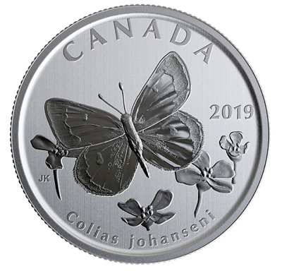 Canada 50 Cents Coin, 🦋 Wildlife Treasury & Fauna, Arctic Butterfly, UNC, 2019 • 16.66$