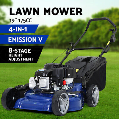 AU429 • Buy Lawn Mower Petrol Powered Push Lawnmower 4-Stroke 19'' 175cc Grass Catch 4-IN-1
