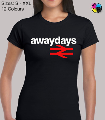 Away Days Awesome Sports Fan Novelty Fitted T-Shirt Top Tshirt Tee For Women • 8.95£