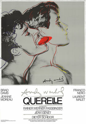 $350 • Buy Querelle Gray Andy WARHOL Original Film Poster Print Art 39 X 27