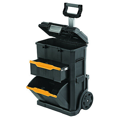 View Details 2-in1 Rolling Workshop Tool Box Mobile Cart Work Center Mechanic Heavy Duty New • 55.87$
