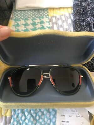 AU350 • Buy Gucci Aviator Sunglasses Classic Frame Colours - Green And Red
