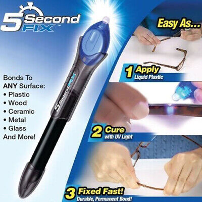 $ CDN6.29 • Buy 5 Second Fix Pen UV Light Repair Glue Refill Liquid Welding Multi-Purpose Kit