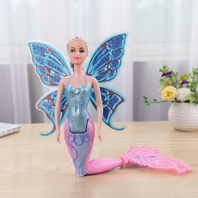 Mermaid Doll With Wings Butterfly Swimming Toy For Children Girls Fairy Princess • 10.85£