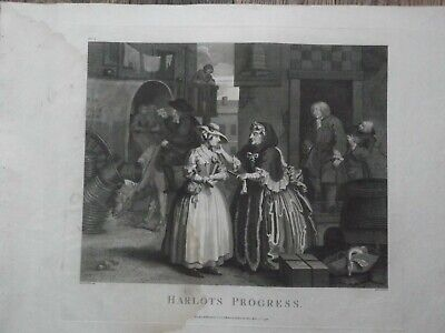 William Hogarth. Harlots Progress. Set Of 6 Engravings. Cook Edition, 1799. • 75£