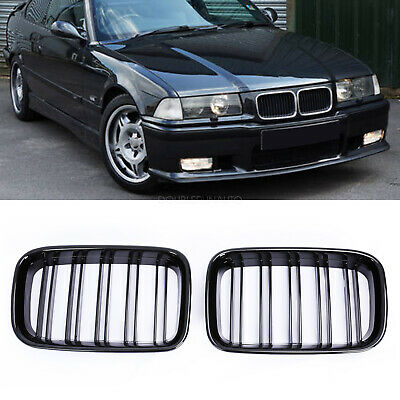 $23.12 • Buy Front Kidney Grille Grill Gloss Black For BMW E36 318IS 325i M3 Coupe 1992-19997