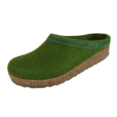 Haflinger Unisex Slippers Grizzly Torben Slippers Outdoor Cork Grass Green • 40.79£