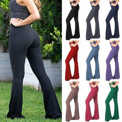 AU27.98 • Buy Women's Boot Cut Flare Yoga Pants High Waisted Workout Casual Trousers Leggings