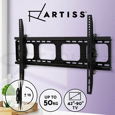 AU33.90 • Buy Artiss TV Wall Mount Bracket Tilt Flat Slim Motion LED LCD 42 55 65 75 90 Inch