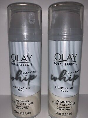 $12.99 • Buy 2-Olay Total Effects Cleansing Whip Facial Cream Cleanser, 150mL (5.0 Fl Oz)