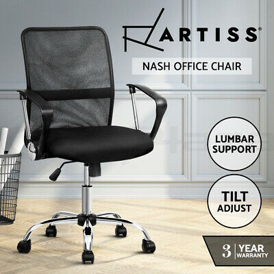 AU109.95 • Buy Artiss Office Chair Gaming Chair Computer Mesh Chairs Executive Mid Back Black