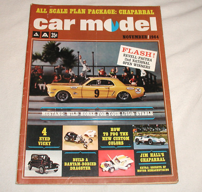 Car Model Magazine November 1964: Mustang, Chaparral, Revell-Pactra Winners ++ • 9.99$